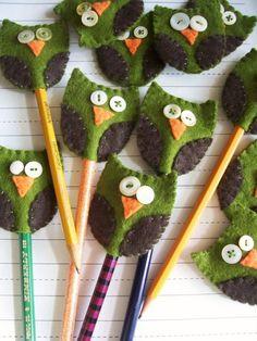 Felt Owlie Pencil Topper