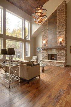 Alta Modern Chalet contemporary-living-room full fireplace view