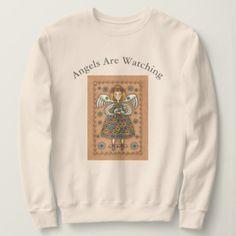 Yo Yo Quilt GUARDIAN ANGEL AND CAT SWEATSHIRT  $30.60  by SusanBrackDesigns  - cyo customize personalize unique diy