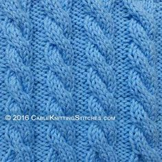 Cable Knitting Stitches » Basic Cable knitting: 3/3 Left Cross (Cable 6 front)