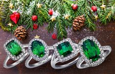 #Let the #Green #colors add a #Fresh new #Start to your #life   #Place the most #elegant #Rings #under the #christmasTree this year