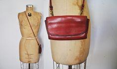 COACH Envelope Wallet Bag / Red Leather by badbabyvintage on Etsy