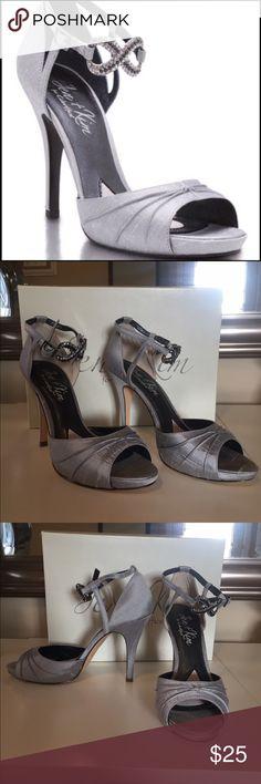 Jen & Kim Devote Silver Platform Sandal Size 7.5 - worn once. In beautiful condition. Silver platform sandal with rhinestone ankle strap. jen & kim Shoes