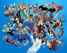 X MEN: Warpath – Pixie – Banshee – Archangel – Colossus – Storm- Magneto – My. Marvel Comics, Manga Comics, Kitty Pryde, Comic Movies, Comic Books, Psylocke, Comic Book Artists, Marvel Characters, Fictional Characters