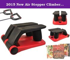 2015 New Air Stepper Climber Exercise Fitness Thigh Machine W/DVD Resistant Cord. Offering a full cardio workout,strengthening your muscle,this air climber can help you get a shapely and toned body as well as full body workout. Its delicate design of the way to generating the pressure (by air circular motion) reduces the movement damage to a minimum,suitable for people of all ages.Digital training computer measures the steps,time and calories,making your exercise more reasonable and…