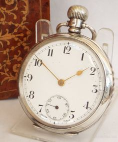 Antique and Vintage Pocket Watches, Antique Swiss Silver Pocket Watch Antique Swiss silver pocket watch Silver Pocket Watch, Pocket Watch Antique, Old Pocket Watches, Mens Designer Watches, Swiss Army Watches, Watch Companies, Watches For Men, Clock, Antiques