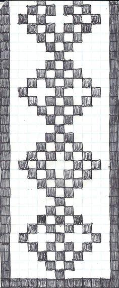 Beautiful Diamond Scarf. Filet Design.