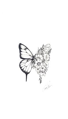 Butterfly Tattoos For Women, Best Tattoos For Women, Unique Tattoos, Cool Tattoos, Tatoos, Shawn Mendes Tattoos, Butterfly Wallpaper, Cute Wallpapers, Tattoo Designs