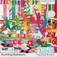 Running Rainbow by Piccolina Designs