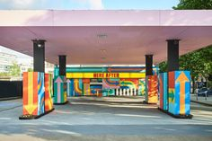 Craig & Karl's playful illustration intervention gives a new lease of life to an abandoned garage | Creative Boom