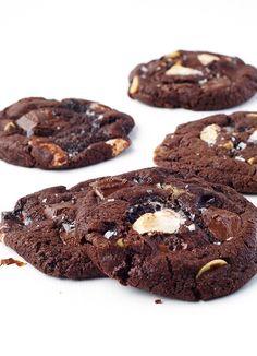 Dark Chocolate Marshmallow Cookies