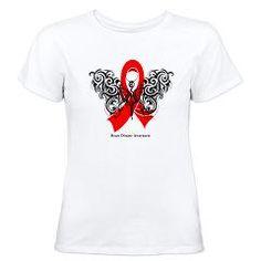 Heart Disease Tribal Butterfly Women's T-Shirt> Heart Disease Tribal Butterfly Shirts> Hope & Dream Cancer Awareness T-Shirt Store