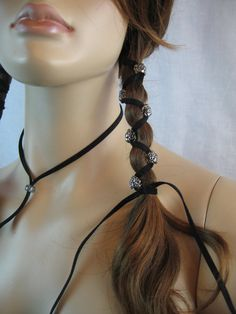 Leather Hair Wrap Extensions Ponytail Holder Hair Jewelry Native - Diy ponytail wrap