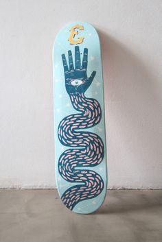 Skates on Behance Skateboard ? Painted Skateboard, Skateboard Deck Art, Skateboard Design, Skateboard Girl, Custom Skateboards, Cool Skateboards, Skate Shape, Longboard Design, Skate Art