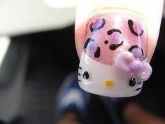 Hello Kitty/Leopard Nails