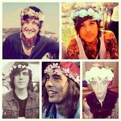 Austin Carlile (Of Mice And Men), Oli Sykes (Bring Me The Horizon), Kellin Quinn (Sleeping With Sirens), Vic Fuentes (Pierce The Veil), and Andy Biersack (Black Veil Brides)!!!!!! <3 <3