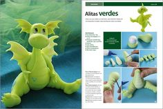 Make a dragon with fondant.