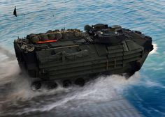 USMC AAV7 get out from LHD