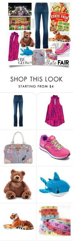 """""""Summer Date: State Fair"""" by pinkymonster ❤ liked on Polyvore featuring J Brand, Nicole Lee, Fila, Gund, statefair and summerdate"""