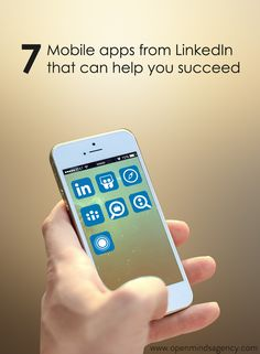 7 Mobile Apps from LinkedIn that can help you Succeed at Work and Business. Learn more from our blog post: [Click on the image] ‪#‎omagency‬ ‪#‎linkedin‬ ‪#‎mobile‬