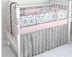 Pink, Aqua and Grey Owl crib bedding set by ConvertibleCoveralls on Etsy https://www.etsy.com/listing/251871477/pink-aqua-and-grey-owl-crib-bedding-set
