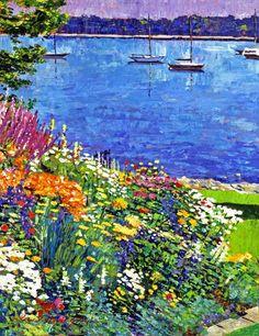 Sailboat Bay Garden by David Lloyd Glover