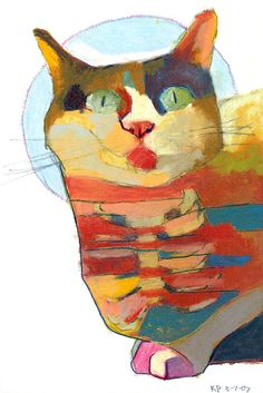 Kelly Packer #colorful #cat