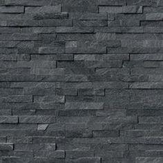 MSI Coal Canyon Ledger Panel 6 in. x 24 in. / pallet) MS International Coal Canyon Ledger-Platte 6 Zoll x 24 Zoll Natürliche Quarzit-Wandfliese Kisten / 60 Quadratfuß / Palette) – The Home Depot Slate Wall Tiles, Slate Flooring, Herringbone Backsplash, Hexagon Backsplash, Wood Tiles, Stone Siding, Stone Cladding, Stone Veneer Exterior, Cladding Tiles