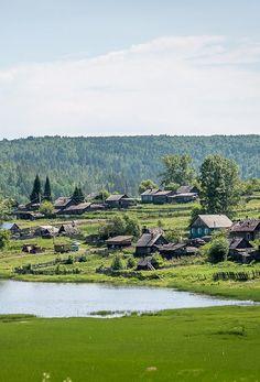 Russian village in Siberia.