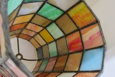 Vintage Stained Glass Hanging Lamp Shade Project by VestalVintage, $36.00