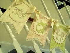 Nursery Rhyme Baby Shower Lace Trimmed Banner / by APregnancyStory, $35.00