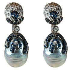 Fabulous Pearl Diamond Earrings