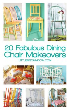 You'll love these 20 Fabulous Dining Chair Makeovers, make your old chairs look brand new!