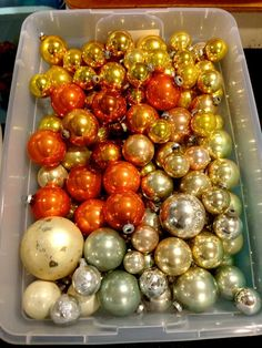 a different take on Christmas tree ornament colors