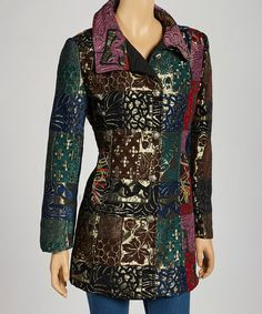 Take a look at this Red & Green Nature Patchwork Jacket by Zashi on #zulily today - regularly $150 , Zulily price $47.99 12/07/2013