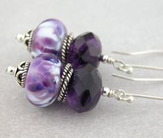 """I added """"Royal purple amethyst lampwork and sterling earrings by cserpentDesigns"""" to an #inlinkz linkup!https://www.etsy.com/listing/216789155/royal-purple-amethyst-lampwork-and?ref=shop_home_feat_2"""