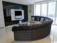 Modern Curved Sofa