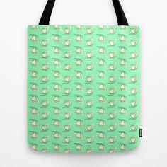 "Tote Bag / 16"" x 16"" AnishaCreations (anishacreations) Mint & Lemon by AnishaCreations $22.00"