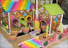 Wicked Goodies | Gingerbread Candy Factory by Lynne Schuyler | http://www.wickedgoodies.net