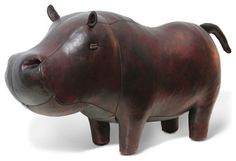 Jonathan Adler Hippo in Leather. I seriously love this ottoman. Too bad it's $895!