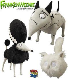 Bonecos de Pelúcia Medicom Toy do Filme Frankenweenie de Tim Burton