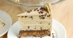 Chocolate Chip Cookie Cake-A cookie layered w/chocolate chip cake, chocolate ganache and brown sugar buttercream. Love cookie dough? You'll love this cake!
