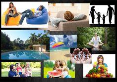 MoodBoard conceito Supermercados BH. Feito por Mylena Conceito: Conforto, local agradável, local para família.