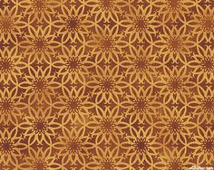 """KBSHD9TC - Art Nouveau Mum in Maple Brown from the """"Shadowland II"""" collection by Jason Yenter for Kona Bay Fabrics."""