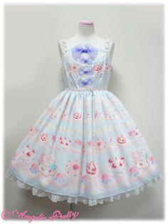 angelic pretty ホイップShow Caseリボンジャンパースカート