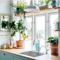 Such a beautiful kitchen on such a beautiful day! Let more sun in and keep your windows looking fresh with a DIY glass cleaner. Mix 1 part alcohol and 2 parts purifed water and spray. Follow up with a microfiber cloth for a streak free shine. The same process works to clean and shine faucets too!  . . . #green #clean #modernhome #homedecor #home #cleaning #apartmenttherapy #natural #organic #ecofriendly #homemade #diy #philly #smallbiz #shoplocal #support #local #business