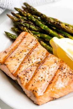 Simple Grilled Salmon is a summertime favorite! It's easy to make on the grill, and is light and healthy for a quick dinner that's good for you too. #thestayathomechef #thebestgrilledsalmon
