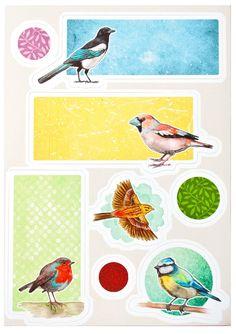 """Tiere - Sticker """"Birdies"""" - ein Designerstück von tikkadesign bei DaWanda"""