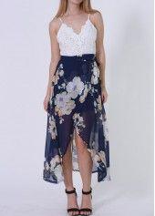 V Neck Royal Blue Layered Chiffon Dress on sale only US$25.43 now, buy cheap V Neck Royal Blue Layered Chiffon Dress at lulugal.com