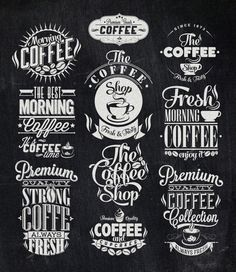 Vintage Coffee Labels by Invisible Studio, via Behance